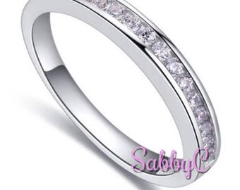 New 18 k white gold wedding ring, wedding band