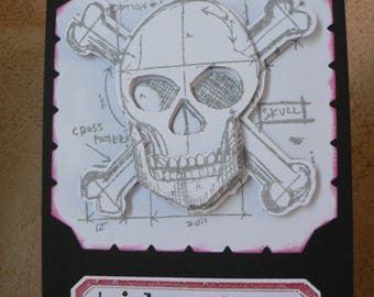 skull halloween scrapbooking card