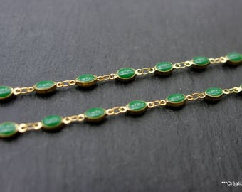 20 cm glazed chain color green