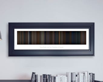 Harry Potter and the Chamber of Secrets // Movie Poster // Movie Barcode // Harry Potter Print // Wall Decor // Panoramic
