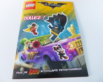 200 LEGO The Batman Movie ready repositionable stickers go paste!