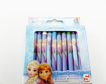 24 crayons wax 24 multi-colored snow Queen