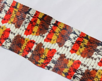 SKIN of snake leather multicolored print