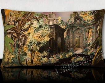 Sumptuous cushion panoramic lush exotic flowers and the lavish garden homes.