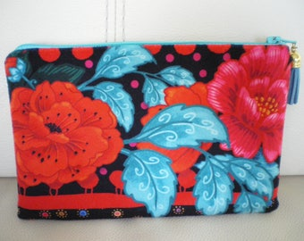Pouch, cosmetic case in Velvet