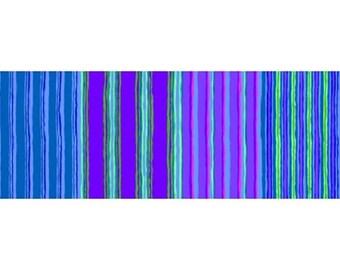 kaffe fasset striped shades of blue, purple, turquoise 163BLUEX patchwork fabric