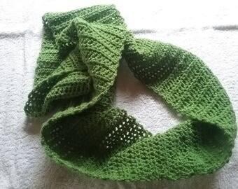 Summer loop / summer scarf green 160 cm