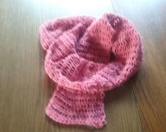 Summer loop / summer scarf raspberry, 175 cm