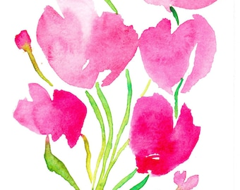 Tulips. Watercolor