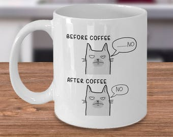 Cat Lady, Funny Mug, Cat Lover Mug, Cat Mug, Funny gift, Grump cat mug