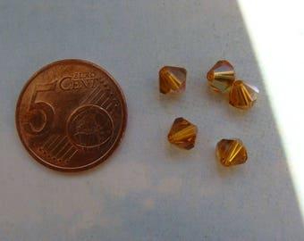 Lot 5 6mm topaz crystal Swarovski bicones