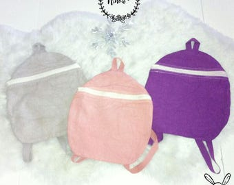Bags for children personalized Violet Purple