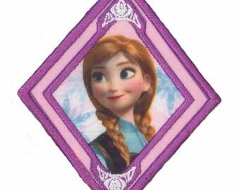 Frozen Anna patch badge