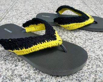 Made-to-Order Crochet Superhero Flip Flop Sandals (Men's)