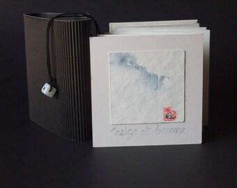 """Artist's book - """"snow and fog"""" - signed original artwork"""