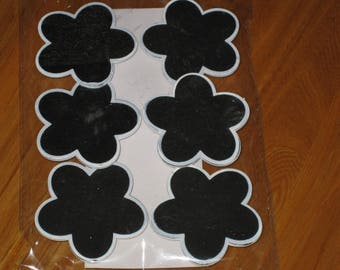 Set of 6 slates darts shape flower, marks instead...
