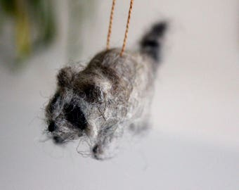 Felted Raccoon
