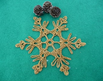 Small doily crochet Christmas decoration