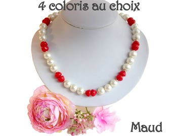 Vintage Maud beads necklace