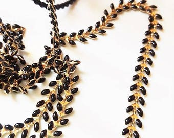 20 cm chain gold base and black ears
