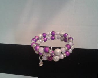 Splash of purple rap braclet
