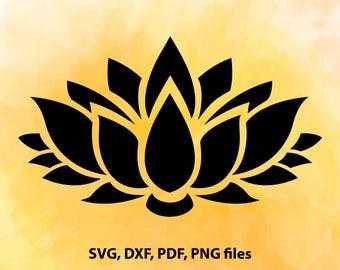 Lotus flower svg, Namaste, Zentangle svg, Zentangle flower, Yoga svg, Iron on designs, Cut files for Cricut, Files for Silhouette Cameo