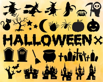 Halloween Svg, Halloween SVG Files, Halloween Clipart, Halloween Silhouette, Halloween Cricut, svg, dxf, pdf, png, Halloween Vector Files