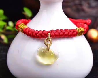 Hand-woven natural beeswax bracelet