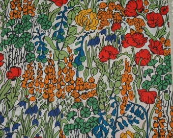 "Coupon - 33.3 cm x 135cm Liberty of London fabric - multicolored. ""Tiny Poppytot"". 213"