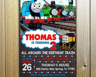 Thomas The Train Invitation, Thomas The Train Birthday, Thomas The Train Birthday Invitation, Thomas The Train Party, Thomas Train Invite