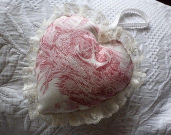 HEART DOOR PILLOW - TOILE DE JOUY - ANCHOR