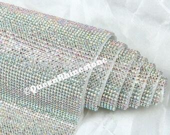3mm Rhinestone sheet / rhinestone fabric , 48 inches long and 18 inches wide stone size  iron-on- Highest Quality Rhinestones