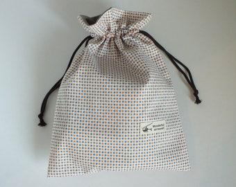 "Case/pouch in cotton - Japanese fabric ""kinchaku""."
