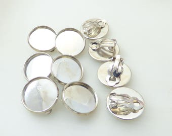 set of 10 16MM cabochon earrings