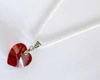 Red magma Heart Necklace