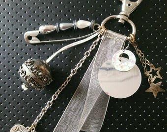 Keyring / bag charm silver