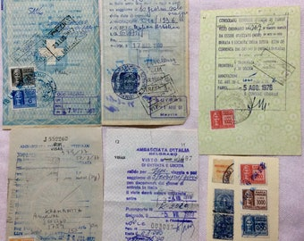 Vintage Italian Fiscal Stamps
