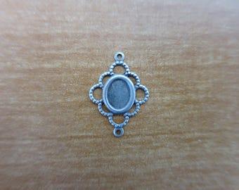 Spacer antique silver Rhombus