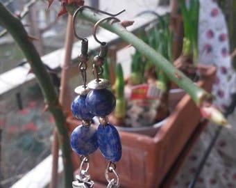 """Pair of earrings """"Blue Lagoon"""""""