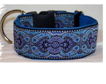 Dog collar Jacquard ribbon with unique colourful ornaments, Elegant design and fashion for pet accessories