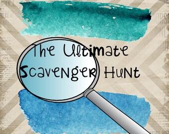 Scavenger Hunt; Team Scavenger Hunt; Teen Game; Teen Scavenger; Teen Party Idea; Complete Party; Fun Games