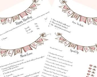 Bridal Shower Game Bundle; Bridal Shower Games; Shower Games; Instant Download; Printable Bridal Shower Games; Printable Games
