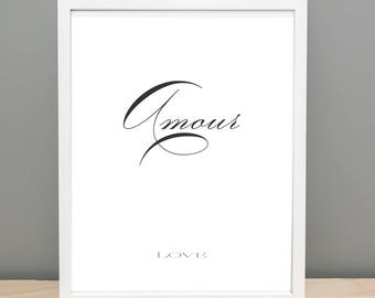 Amour (Love) Printable Art