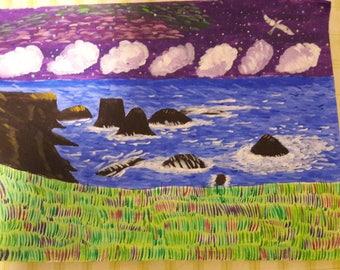 Magical night landscape