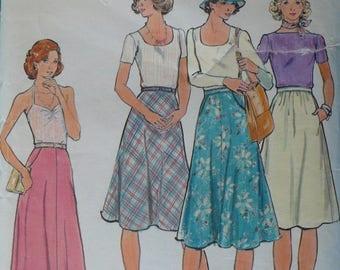 Women's Skirt Pattern, Vintage Butterick Pattern 4067, Size 24, CoPA Pattern circa 1970