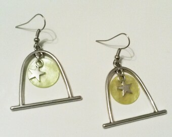 perch yellow sequin earrings