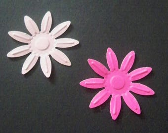 SCRAPBOOKING Lot Punch embossed flower color choice