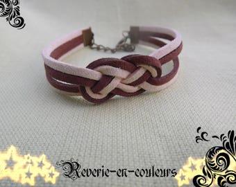 """Bracelet suede sailor knot """"Mistral"""""""