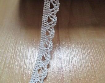 lace ecru lace, width 5mm the meter