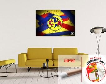 America De Mexico Soccer Premium Quality Poster